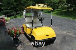 Yamaha G8E Fleet Classic Cab Style Electric Golf Cart New Batteries, New Motor